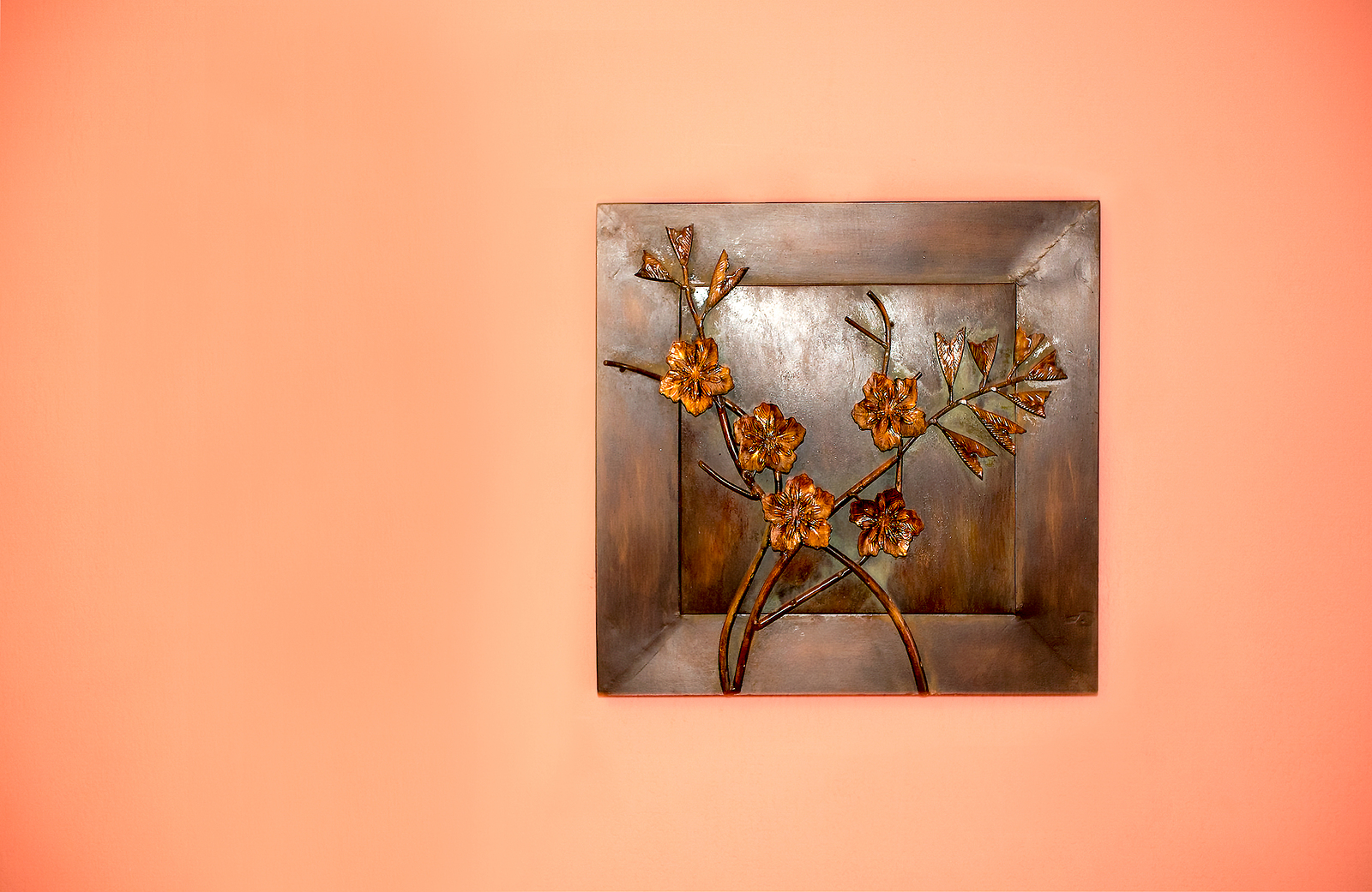 Art creation from metal on the wall